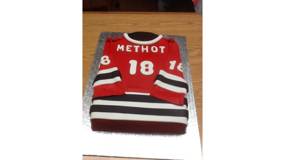 Gâteau  chandail hockey