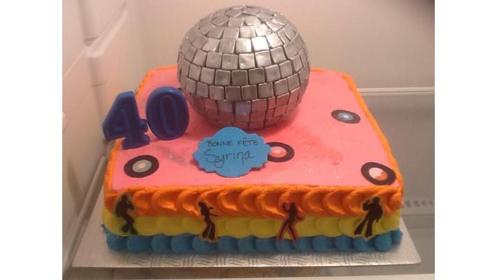 Gâteau thême Disco