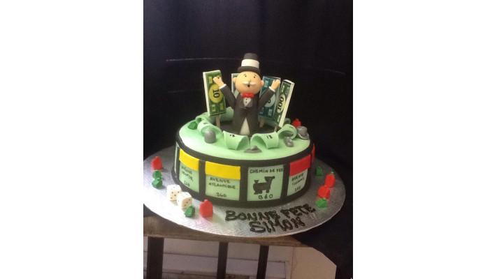 Gâteau Monopoly