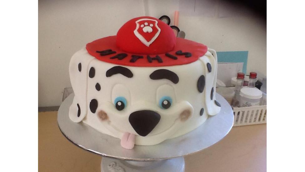 Gâteau fondant Pat patrouille