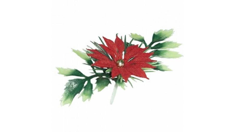 Poinsettia plastique