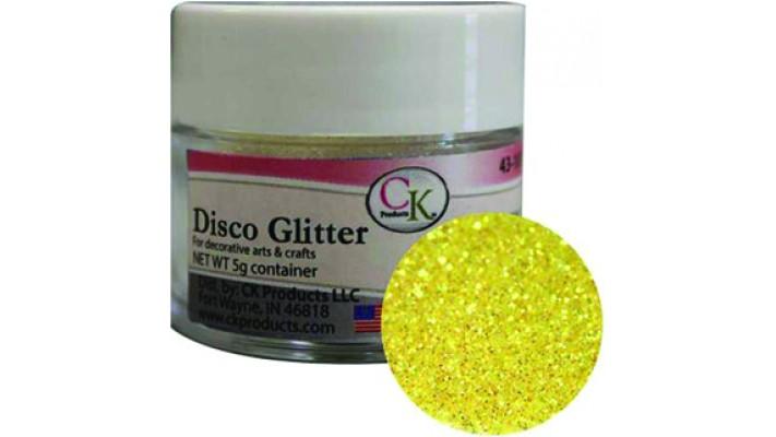Poudre disco jaune