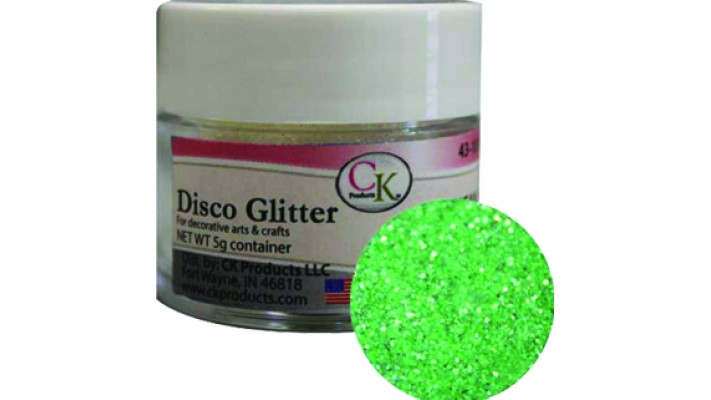 Poudre disco vert emeraude